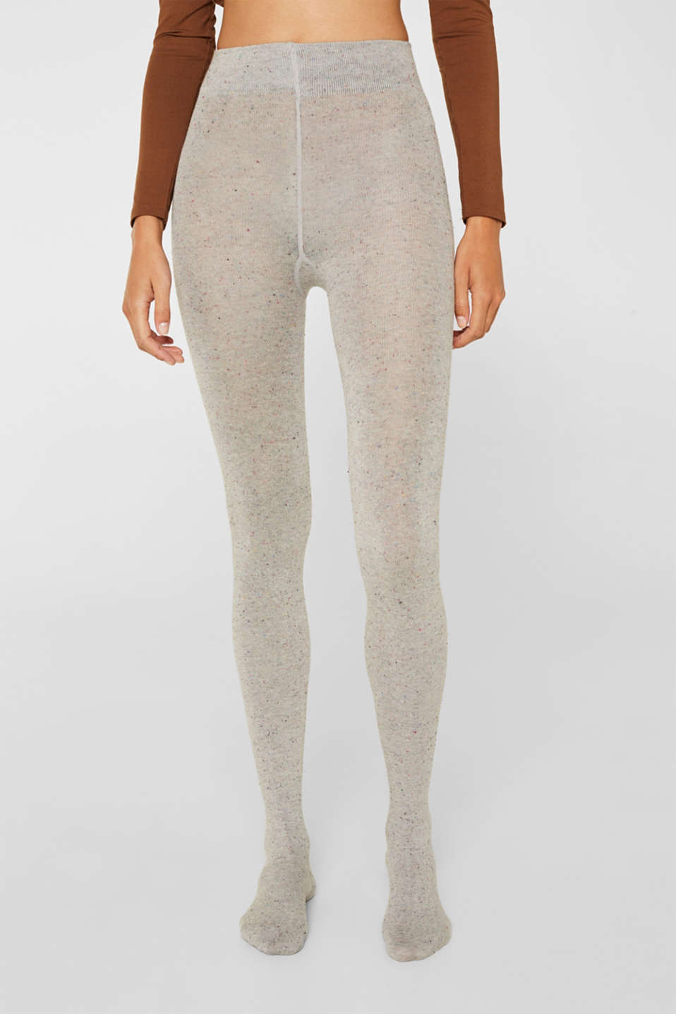 With silk: Dimpled tights, LIGHT GREY, detail image number 2