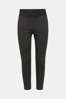 Ankle-length leggings with a comfy waistband, BLACK, detail