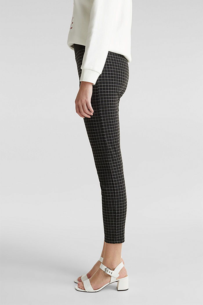 Ankle-length leggings with a comfy waistband, BLACK, detail image number 2