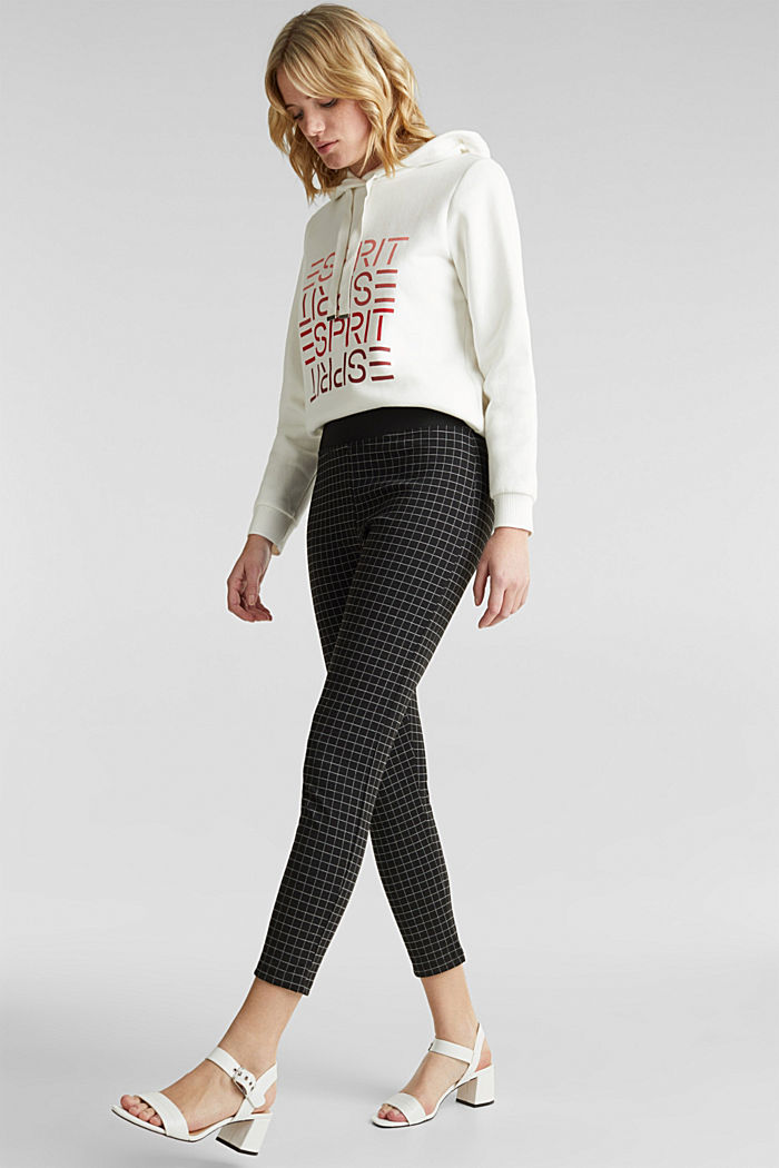 Ankle-length leggings with a comfy waistband, BLACK, detail image number 1