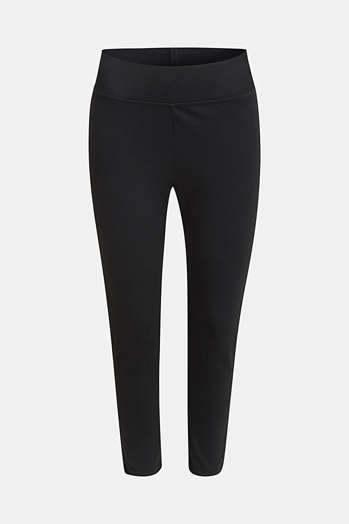 Ankle-length leggings with a comfy waistband, BLACK, detail image number 0