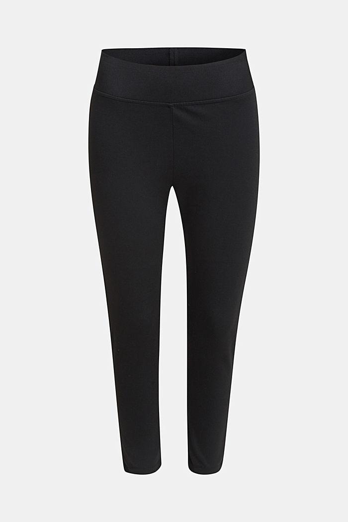 Ankellånga leggings, bekväm linning, BLACK, detail image number 0