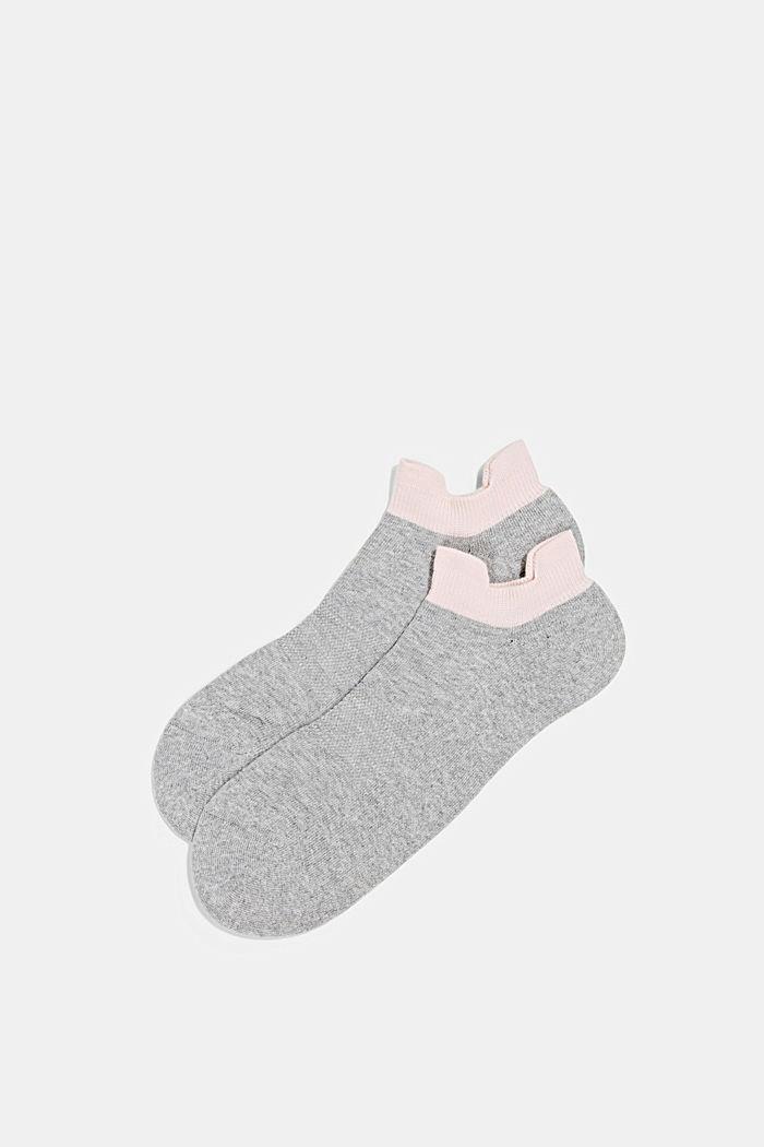 2er-Pack Sneaker-Socken mit Frotteesohle, LIGHT GREY, detail image number 0