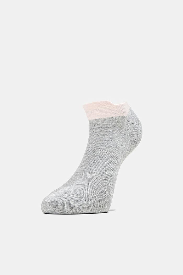 2er-Pack Sneaker-Socken mit Frotteesohle, LIGHT GREY, detail image number 2