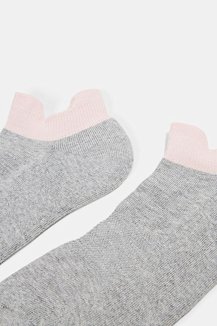 2er-Pack Sneaker-Socken mit Frotteesohle, LIGHT GREY, detail image number 1