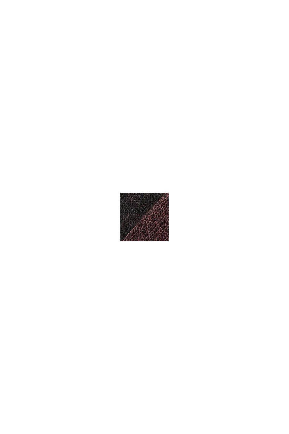 Calze corte con suola in spugna in confezione doppia, BLACK/BORDEAUX, swatch