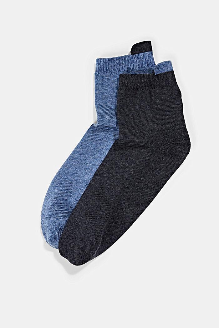 2er-Pack Short-Socken mit Frotteesohle, BLUE/NAVY, detail image number 0