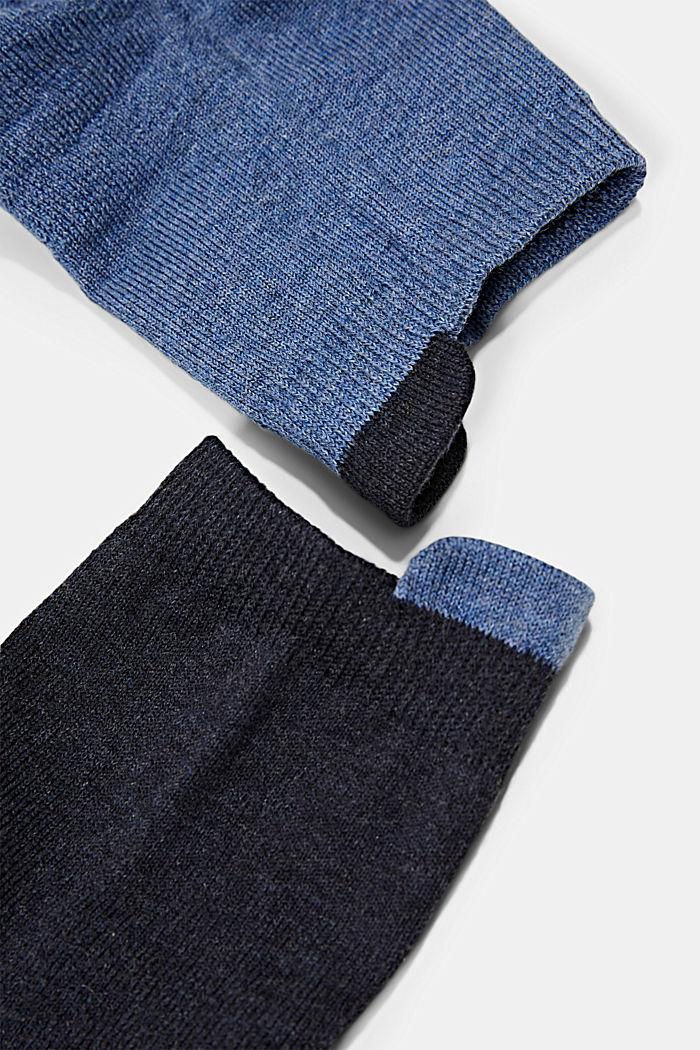 Lot de 2paires de socquettes à semelle en tissu éponge