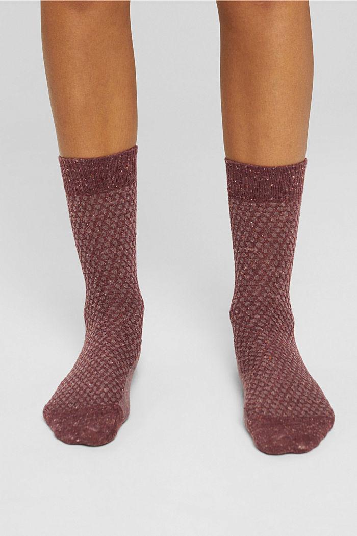 Con seta: calze strutturate in confezione tripla