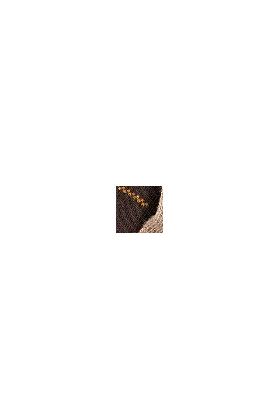Calze in confezione doppia con motivo a quadri, misto cotone biologico, BEIGE/BROWN, swatch