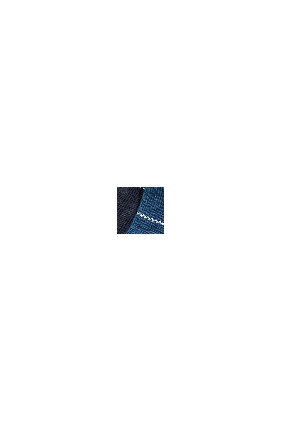 Calze in confezione doppia con motivo a quadri, misto cotone biologico, NAVY/BLUE, swatch