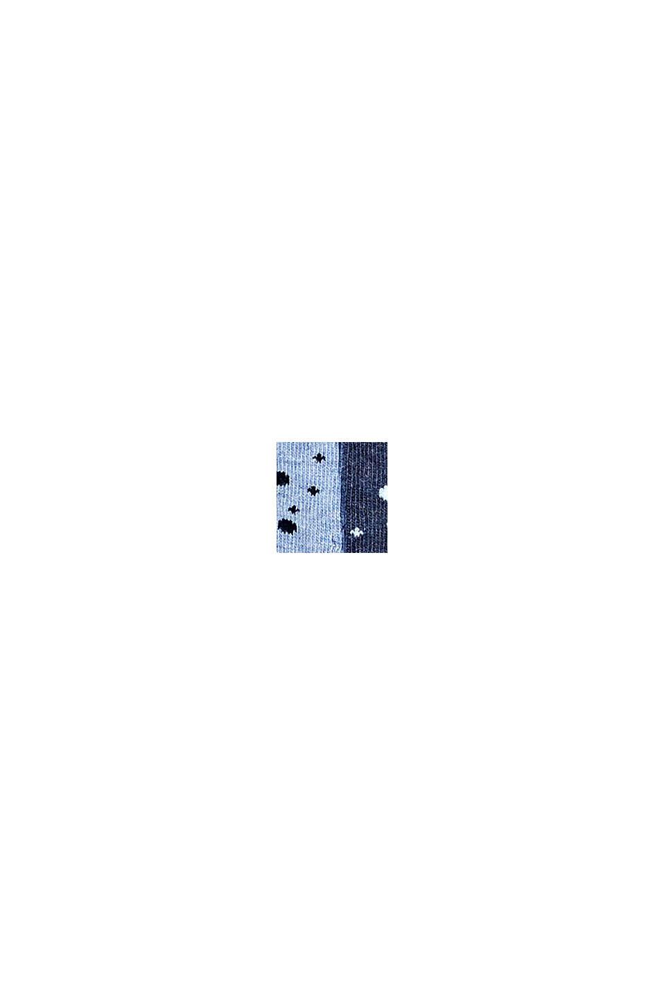 Lot de 5paires de chaussettes à bord roulotté, BLUE/NAVY, swatch