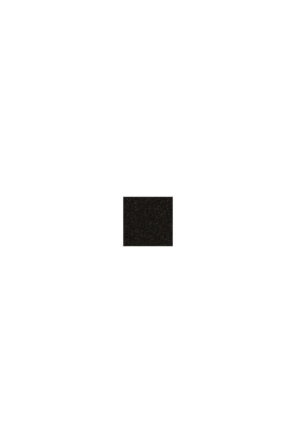 Calze con bordino effetto a conchiglia, in misto cotone, BLACK, swatch
