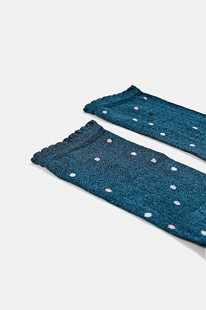 Ponožky s mušličkovými okraji, ze směsi s bavlnou, VENICE NIGHT, detail image number 1