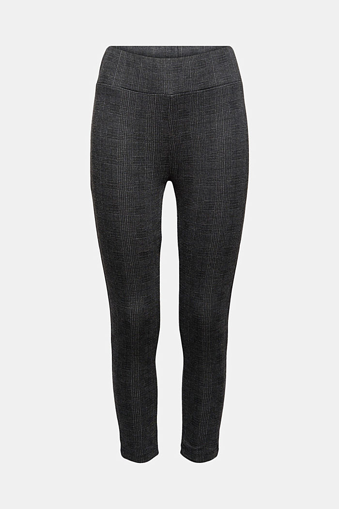 Leggings à carreaux prince de galles, BLACK, detail image number 0