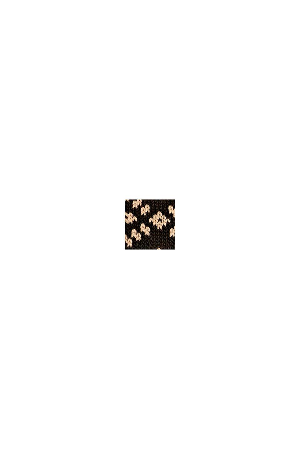 Calze in confezione doppia con motivo norvegese, BROWN MELANGE, swatch