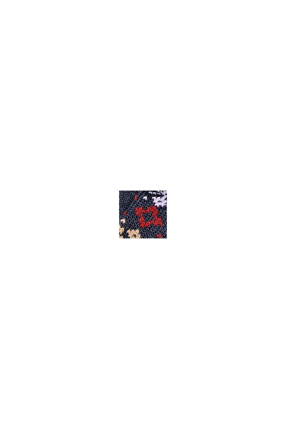 Calze in confezione doppia con motivo norvegese, DARK BLUE MELANGE, swatch