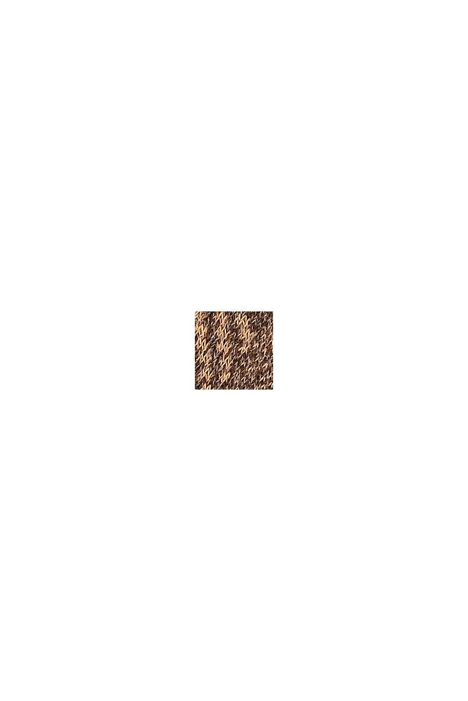 Con lana: calze fantasia in misto cotone, TEAK MELANGE, swatch