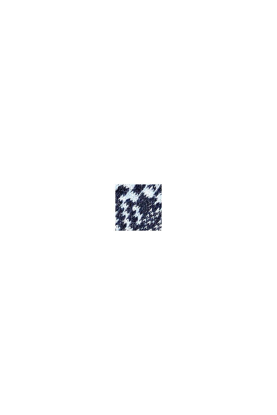 Con lana: calze fantasia in misto cotone, NAVY MELANGE, swatch