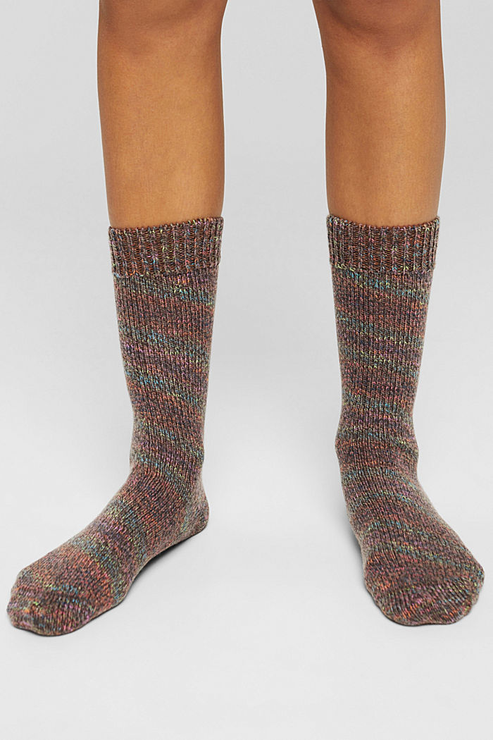 Met wol/kasjmier: sokken met motief