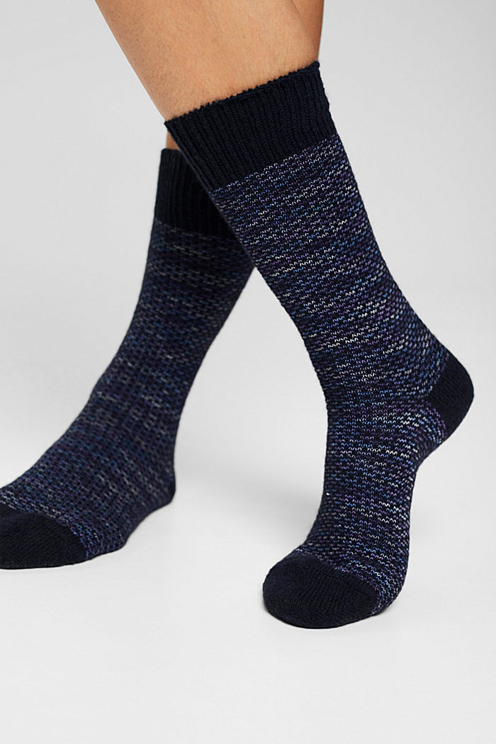 Met wol: sokken met patroon