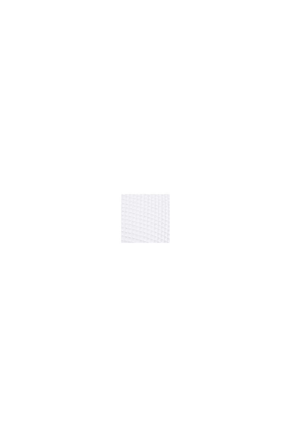 Herren Bademantel aus Waffelpiqué, Baumwolle, WHITE, swatch
