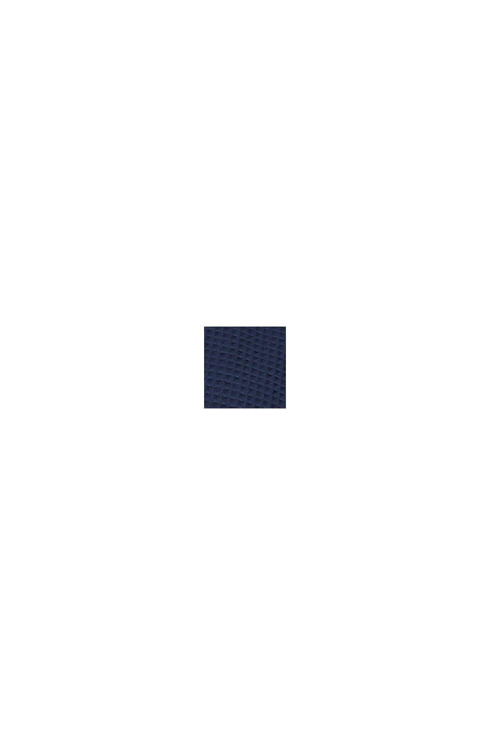 Herren Bademantel aus Waffelpiqué, Baumwolle, NAVY BLUE, swatch