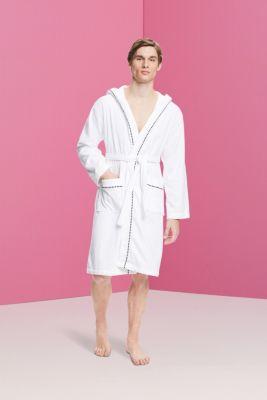 Unisex bathrobe, 100% cotton, WHITE, detail