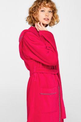 Unisex bathrobe, 100% cotton, RASPBERRY, detail