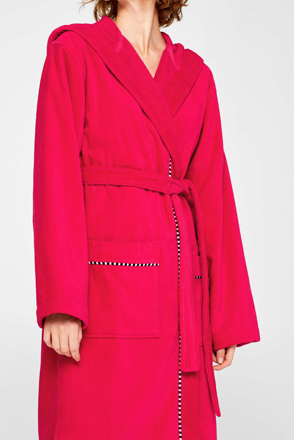 Unisex bathrobe made of 100% cotton, RASPBERRY, detail image number 2
