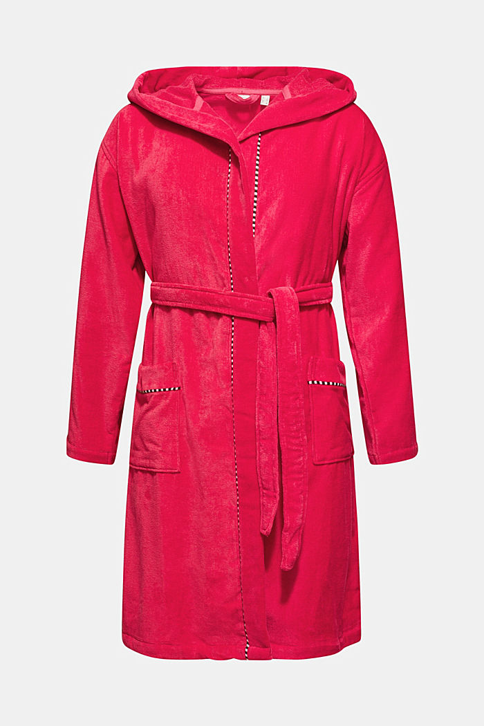 Unisex bathrobe, 100% cotton, RASPBERRY, detail image number 3