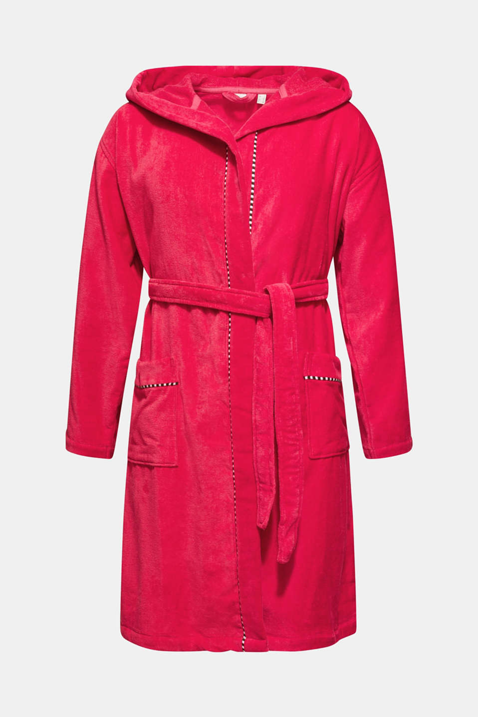 Unisex bathrobe made of 100% cotton, RASPBERRY, detail image number 3