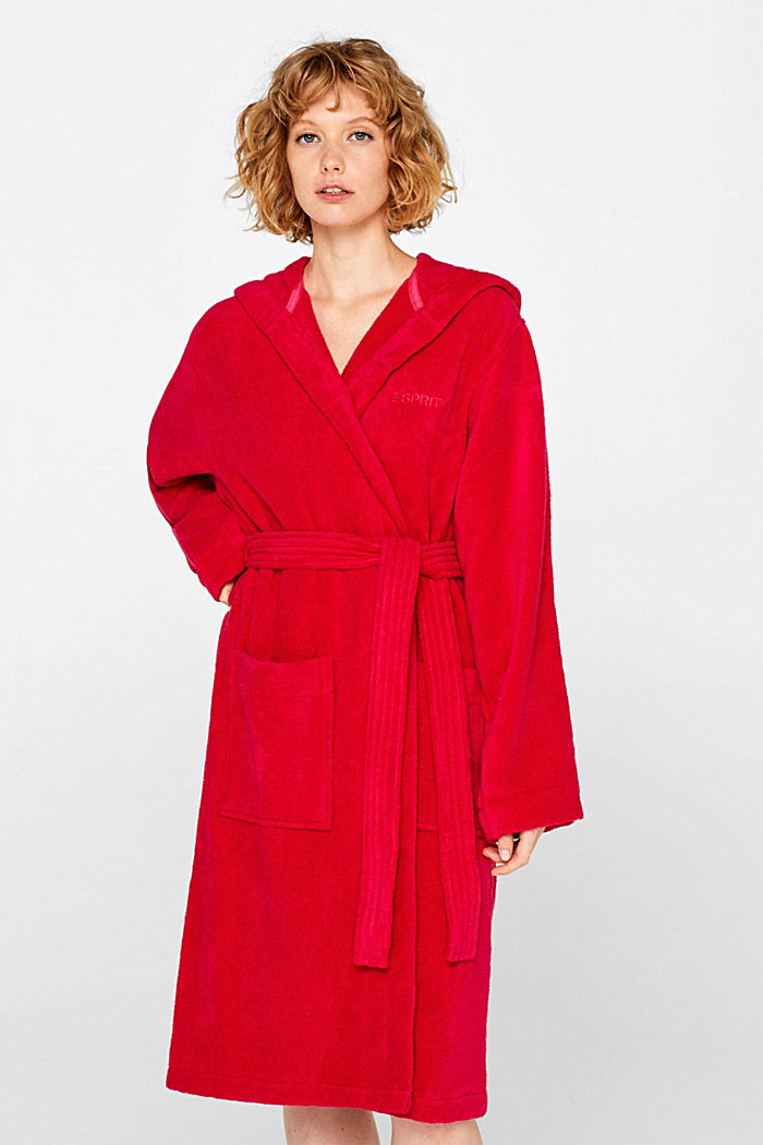 Unisex bathrobe made of 100% cotton, RASPBERRY, detail image number 0