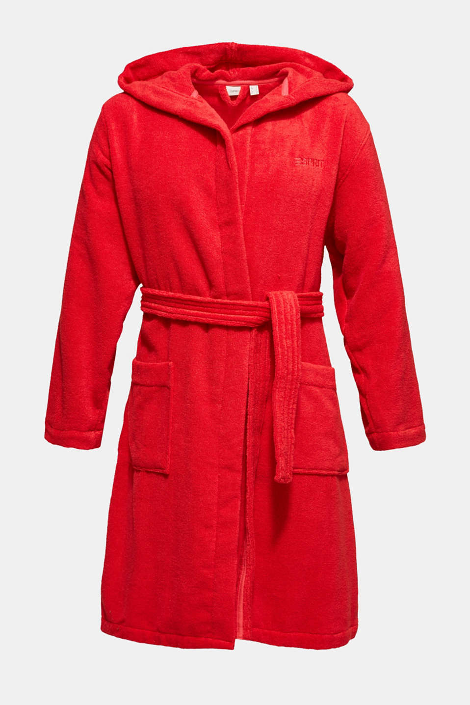 Unisex bathrobe made of 100% cotton, RASPBERRY, detail image number 3