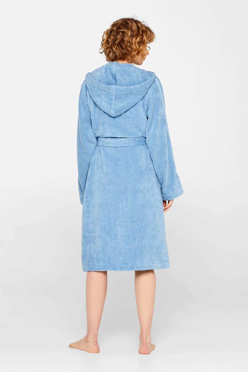 Unisex bathrobe made of 100% cotton, SKY BLUE, detail image number 2