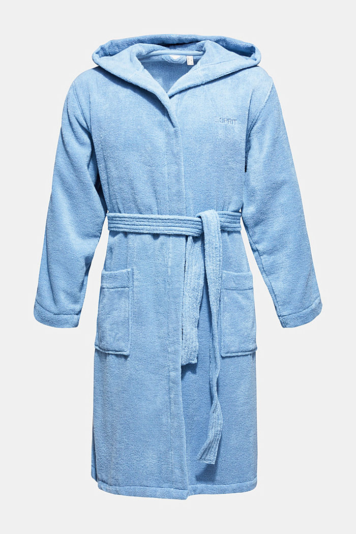 Unisex bathrobe made of 100% cotton, SKY BLUE, detail image number 0