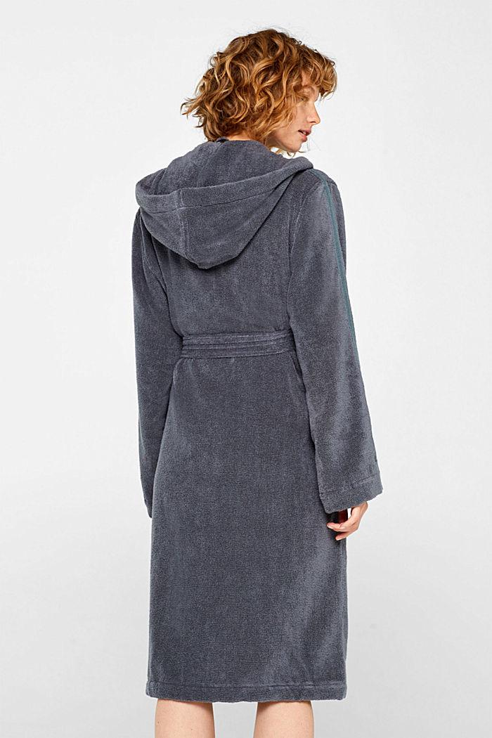 Unisex bathrobe made of 100% cotton, GREY STEEL, detail image number 2