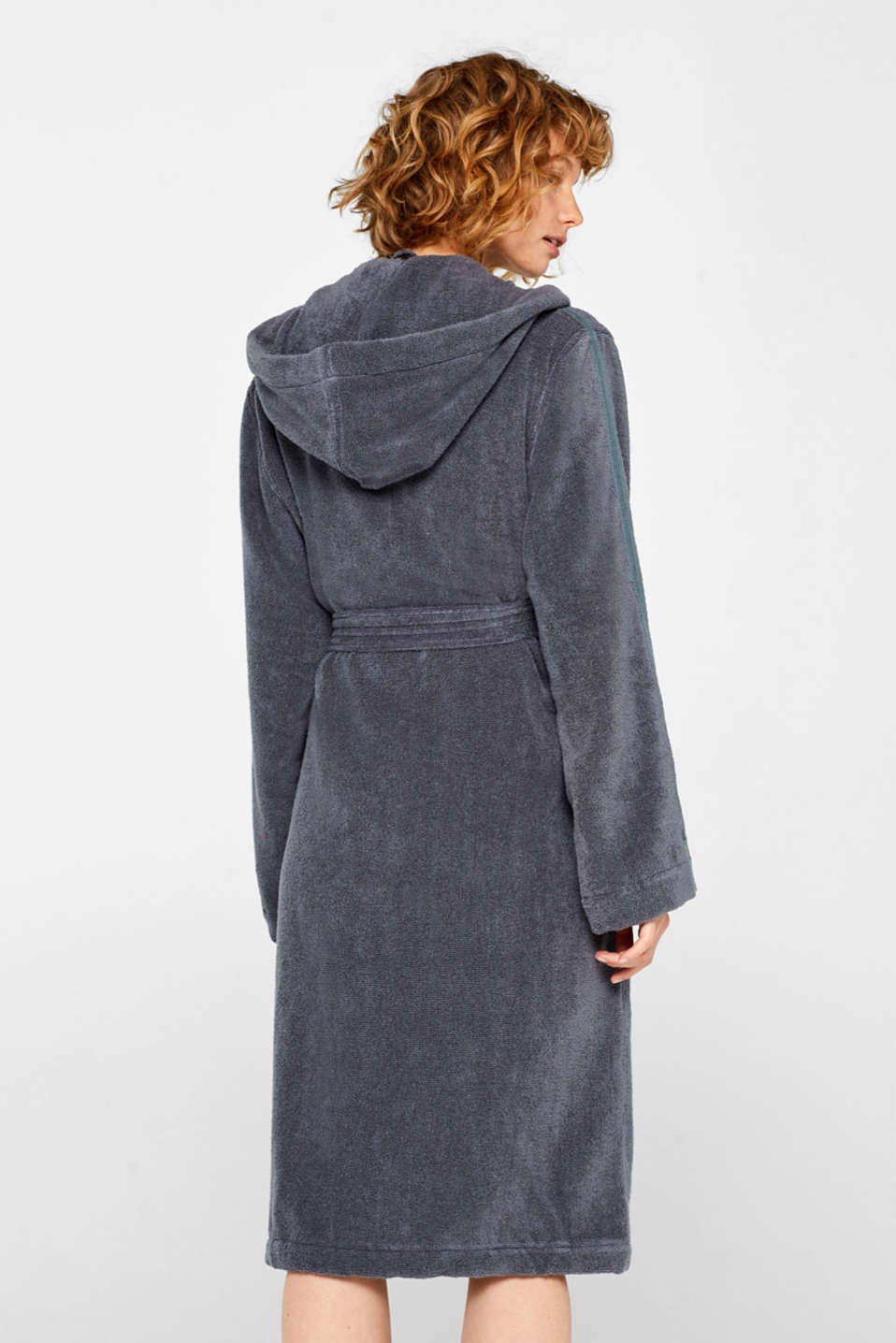 Unisex bathrobe made of 100% cotton, GREY STEEL, detail image number 2