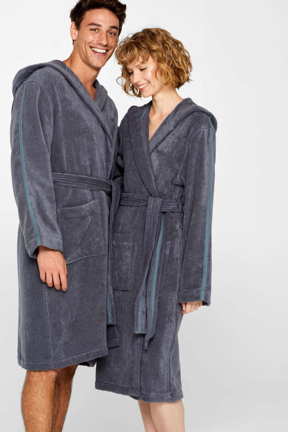 Unisex bathrobe made of 100% cotton, GREY STEEL, detail image number 0