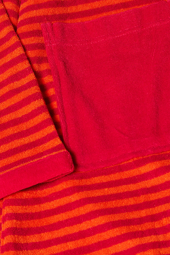 Terry cloth bathrobe with stripes, RASPBERRY, detail image number 3