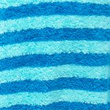 Terry cloth bathrobe with stripes, TURQUOISE, swatch