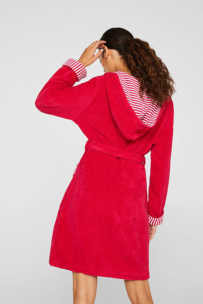 Suede bathrobe made of 100% cotton, RASPBERRY, detail image number 2