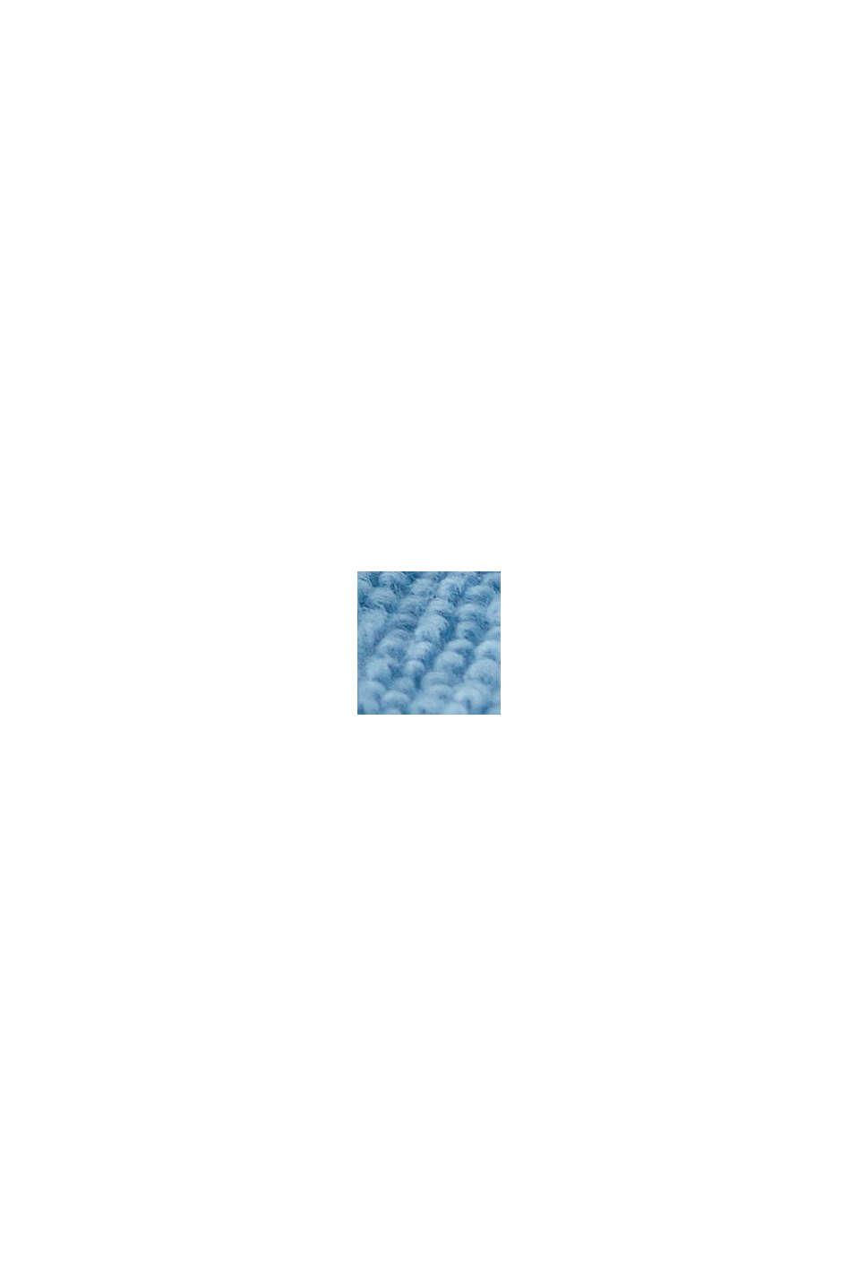 Velours badjas, 100% katoen, SKY BLUE, swatch