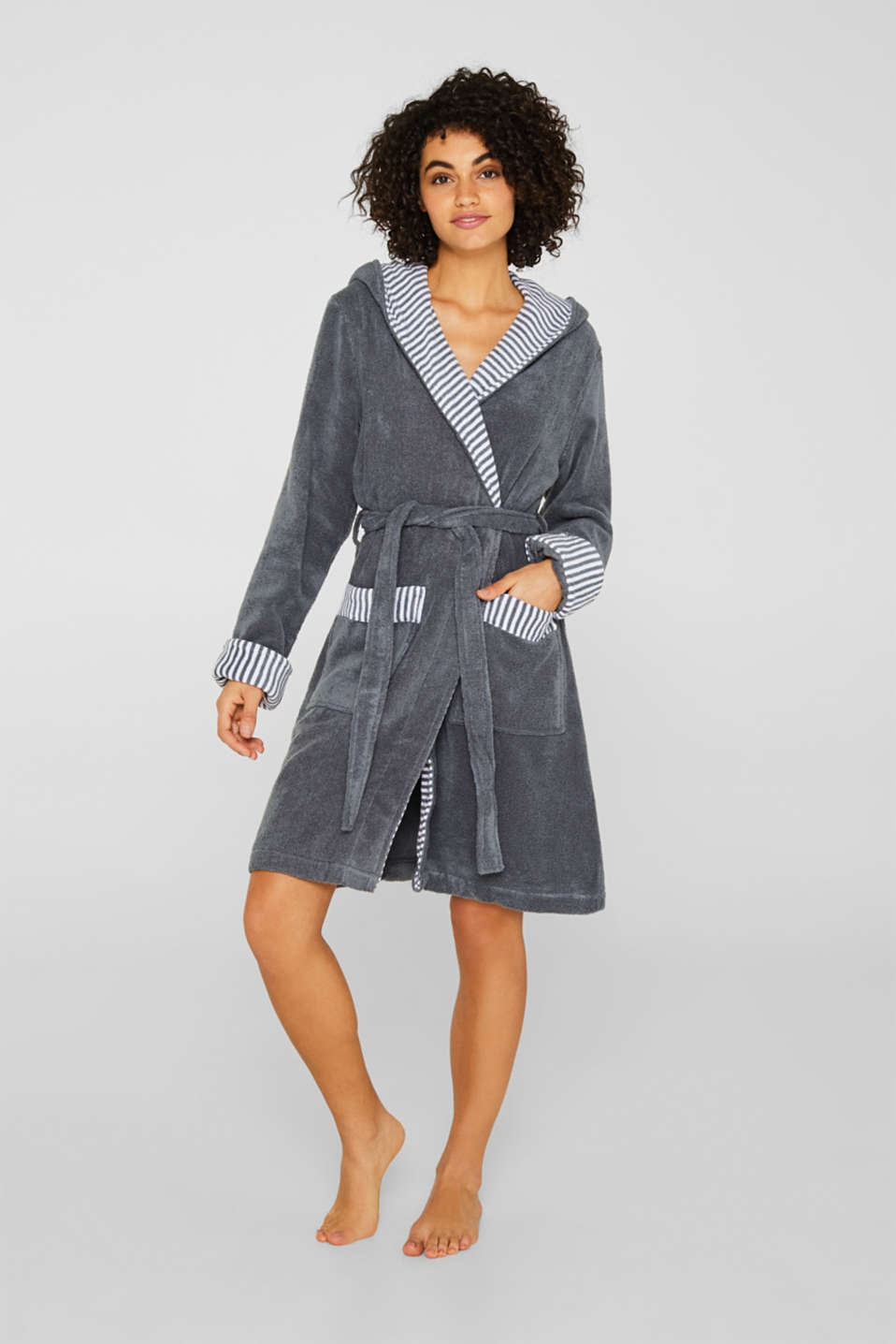 Esprit - Suede bathrobe made of 100% cotton