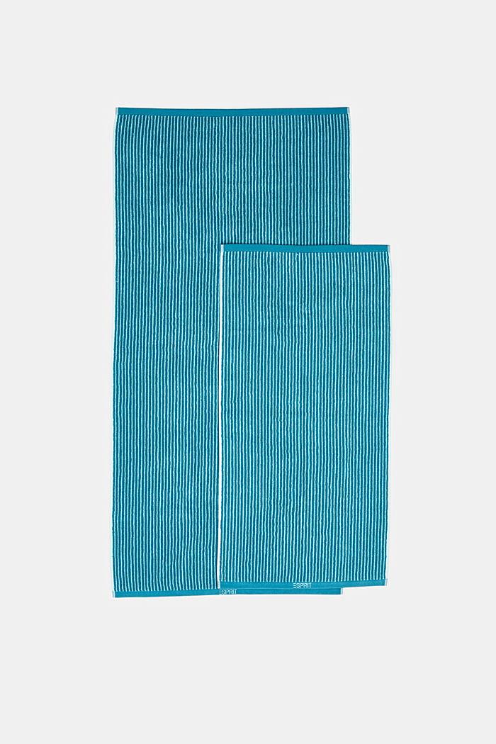 Handdoek van badstof, 100% katoen, TURQUOISE, detail image number 2