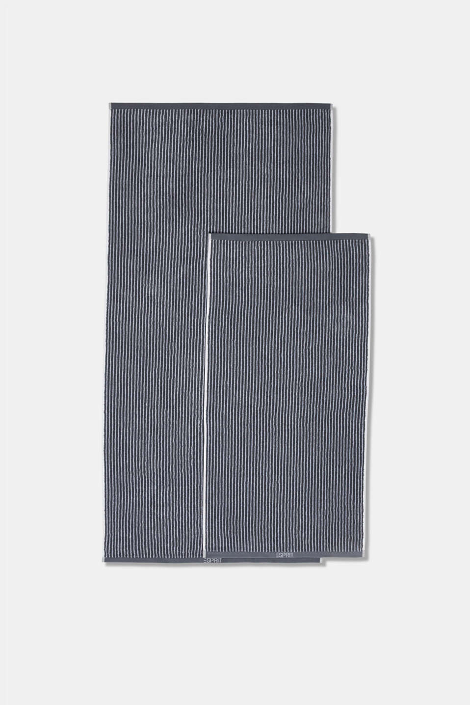 Terry cloth towel, 100% cotton, SILVER, detail image number 2