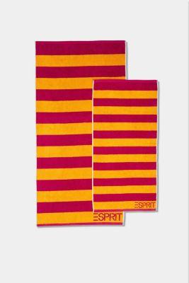 Terrycloth towel, 100% cotton, RASPBERRY, detail