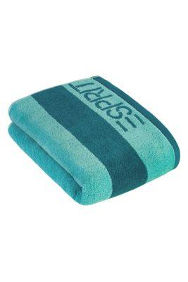 Terrycloth towel, 100% cotton, TURQUOISE, detail