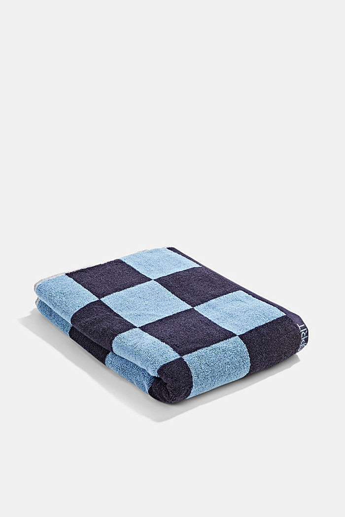 Terry cloth towel, 100% cotton, NAVY BLUE, detail image number 0