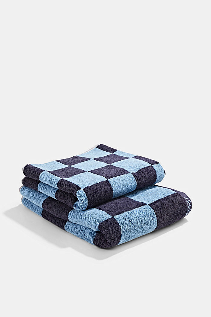 Terry cloth towel, 100% cotton, NAVY BLUE, detail image number 2